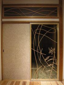 指物・指物障子&ガラスフラッシュのコラボレーション