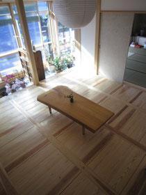 西川材・杉・朝鮮貼・床・床材・無垢板
