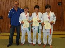 Joachim, Eric, Daniel und Lukas