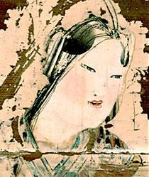 (八重垣神社所蔵 「稲田姫命像」壁画)