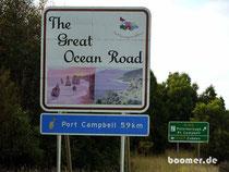Beginn der Great Ocean Road