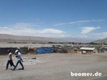 Einfahrt nach Arica