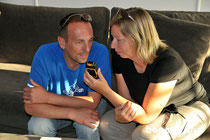 Radio-Interview am Telefon