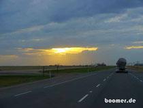Sonnenuntergang auf dem Trans-Canada Highway