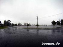 kein See, sondern das 1m überflutete Stadion