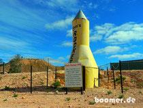 Ross Rocket - ein Denkmal für ein Stück Geschichte in Coober