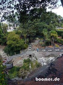 Der Cave Garden ist 50 m tief