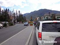 Verkehrschaos in Banff