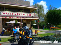 Fotoshooting am Royal Cafe in Walcha
