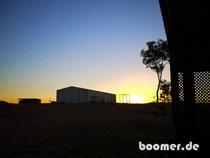 Sonnenuntergang vor dem Staff-Quarter