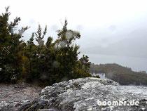 Cradle Mountain bei schlechtem Wetter