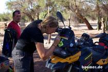 Make-up für die Mopeds
