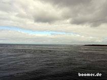 Ausfahrt aus der geschützen Bucht vor Melbourne