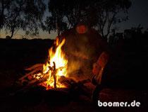 wärmendes Lagerfeuer bei 3°C