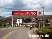 Willkommen in Puno am Titicacasee