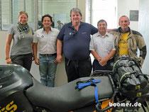 Das Team von BMW-Touratech Guatemala