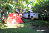 campen im Hostelgarten