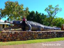 Krys - das riesige Krokodil wurde hier gefangen
