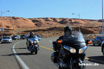 Harley und Goldwing auf Tour
