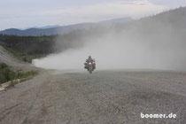 Alaska-Highway kann auch staubig sein