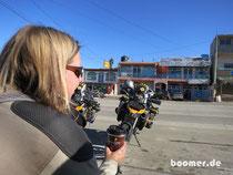 Grenzübergang geschafft - Kaffeepause