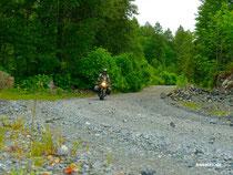Logging Roads im Hinterland