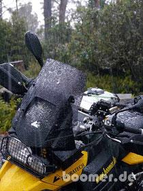angeblich ungewöhnlich im März auf Tassie: Schnee