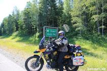 Abzweig auf den Cassier-Highway
