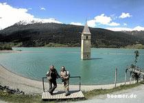 Zwischenstopp am Reschensee