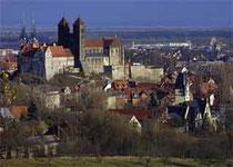 Blick auf des Quedlinburger Schloß