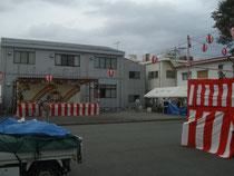 森島秋の大祭の舞台設置等