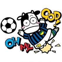 サッカーの絵