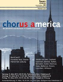 chorUS America, März 2013