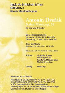 Antonín Dvořák, März 2011