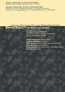 Junge Chormusik aus Skandinavien, Februar 2002
