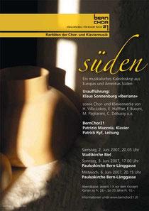 Raritäten der Chor – und Klaviermusik, Juni 2007