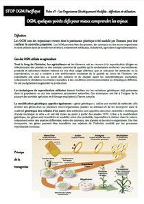 Les fiches d'information de STOP OGM Pacifique à télécharger