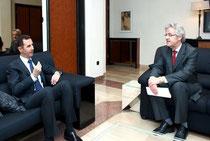 Präsident B. Alassad und Herr Rainer Hermann, Sana.sy