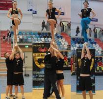 Stehen sicher und vertrauen ihren Partnern: Die Cheer Athletics Brandenburg. Foto: PS