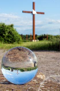 Halde Sachsen, Zeche, Kugel, Glaskugel,Foto, Fotografie, Bild, Digitalfoto