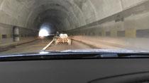 So etwas sieht man hier öfter, komplett unbeleuchtet im stockdunklen Tunnel 😳😳