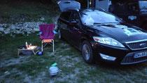 Campingplatz am Tagesziel, ein bisschen Gemütlichkeit muss sein!