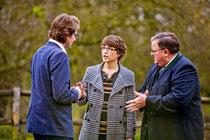 PR-Besprechung: Hans Jörg Wagmann, Sabine Rottbauer, Ludwig Danner