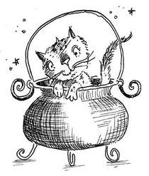 Jinx in cauldron
