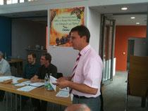 Bürgermeister Bruder begrüßt die NABU Delegierten aus Südbaden