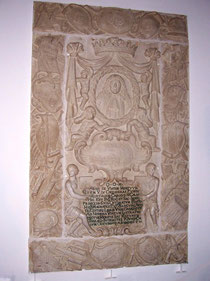 lapide funeraria del principe Carlo Maria Carafa