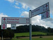 Emmer-Radweg - Ausschilderung