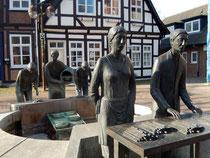 Spargelbrunnen in Nienburg/Weser