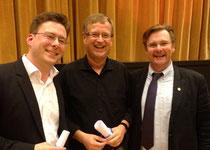 Johannes Hellmann, Jörg-Peter Weigle und Stefan Parkman (v.l.n.r.)