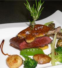 Menu gastronomique au Domaine de Beunes